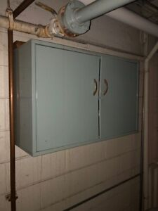 Wall Mounted Metal Overhead Storage Cabinet For A Mechanical Room 24 x12 x26