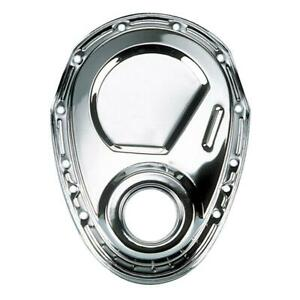Milodon 65500 Timing Cover 1 Piece Steel Chrome Plated Chevy Small Block Each