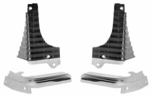 68 1968 Chevelle El Camino Ss Grille Extensions Corner Moldings