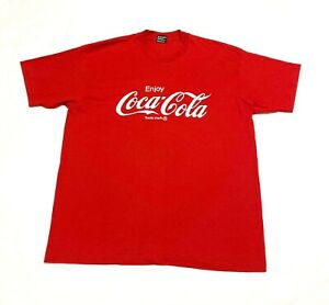 Vintage 90s Coke Coca-Cola Shirt Single Stitch XL Fruit Of The Loom