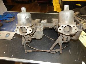 Triumph Tr3a Tr4 Su H6 Carbs And Manifold