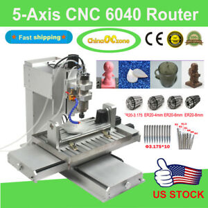 5 axis Cnc 6040 Router Cutting Milling Engraving Machine Engravers For Aluminum