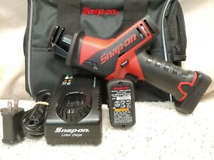 Snap On Ctrs761 Lithium Ion 14 4volt Reciprocating Saw Kit 2 5ah Batteries Used