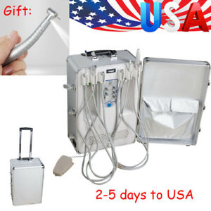 4hole Portable Delivery Unit Suitcase Compressor Dental Equipment Led Handpiece