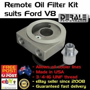 Oil Filter Adaptor Adapter Spin On Sandwich Plate Fits Ford V8 6 Cooler 38 Npt