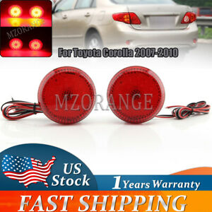 For Toyota Corolla 2007 2008 2009 2010 Led Tail Rear Bumper Reflector Light Lamp