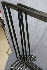 Industrial Black Pipe Clothing Rack
