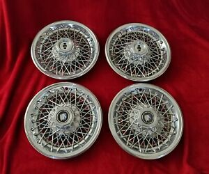 Buick Wire Hubcaps 14 Spoke Wheel Covers 1978 79 80 81 82 83 84 85 86