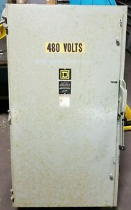 Square D 400 Amp Fused Safety Switch 600 Vac 350 Hp 3 Phase H365