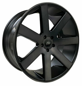 4 Four 24 K9 7198 24x10 Wheel Rims Truck Suv Gmc Chevy 5 6 Lug Black Tint