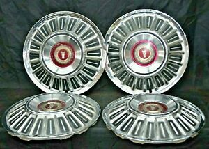 1967 Ford Galaxie Hubcaps 15 Set Of 4 Wheel Covers Hubcaps 67 Oem