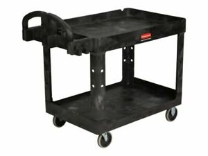 Rubbermaid Fg452088bla Commercial Heavy duty Utility Cart Medium Black
