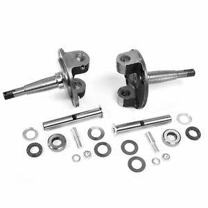 1928 1948 Ford Chrome Straight Axle Spindles Pair W Kingpin Bushing Set Solid