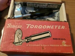 Vintage 1 4 Drive Snap on Torqometer Tqs 012 1188 With Original Box