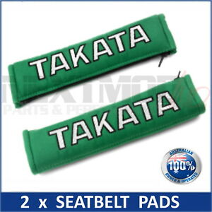 2 X Jdm Takata Green Seat Belt Harness Comfort Pad Pair Bride Harness New