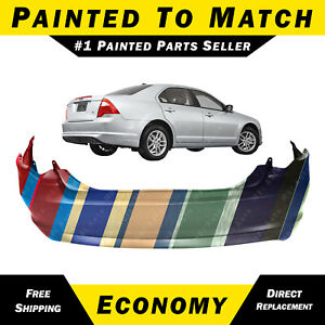 New Painted To Match Rear Bumper Cover Fascia For 2010 2011 2012 Ford Fusion
