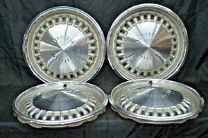 1969 69 Chrysler New Yorker Newport Hubcaps Wheel Covers Mopar Oem Set Of 4