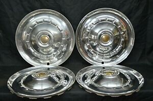 1953 Chrysler Saratoga Windsor Hubcaps New Yorker Wheel Cover Oem Set Of 4 Mopar