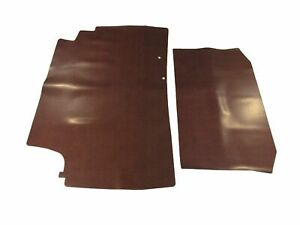 1964 Bonneville Coupe Convertible Rubber Trunk Mat Red Herringbone 2pc