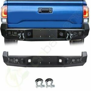 Steel Rear Bumper For 2005 2015 Toyota Tacoma Assembly bright Light