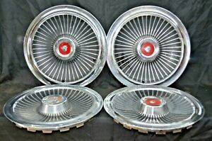 1965 Mercury Colony Park Hubcaps 15 Set Of 4 Wheel Covers 65 Hub Caps