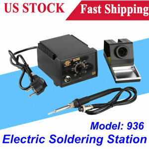 936 Adjustable Temperature Electric Soldering Rework Station Iron Stand 110v New