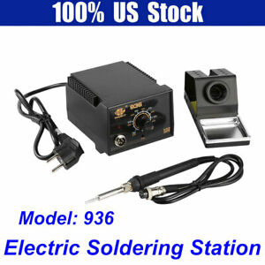 936 Adjustable Temperature Electric Soldering Station Kit W iron Stand 110v 60w