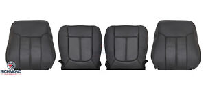 2015 Ford F250 Lariat driver Passenger Side Complete Leather Seat Covers Black