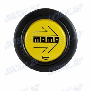 1pcs New Momo Steering Wheel Horn Button Black Yellow Arrow 59mm