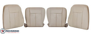 2007 2014 Ford Expedition Ac driver Passenger Complete Leather Seat Covers Tan