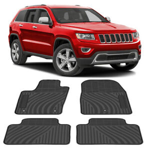 All Weather Car Floor Mats Front Rear Liner For Jeep Grand Cherokee 2011 2016