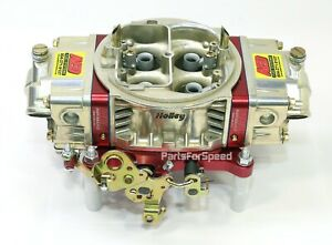 Aed Holley Double Pumper 750 Ho Carburetor Red Billet Base Plate Special Edition