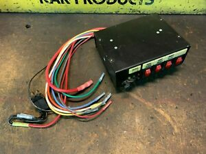 Federal Signal Switchbox 4 On off 3 Position Slide Switch Sw400ss