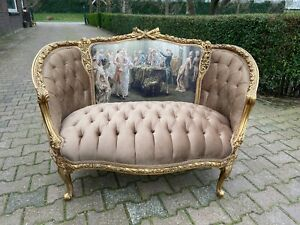 Unique French Louis Xv Style Sofa Marquise Loveseat