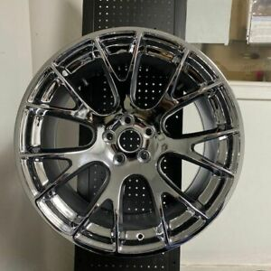 20 Hellcat Srt Style Staggered Chrome Wheels Rims Fits Dodge Charger Challenger