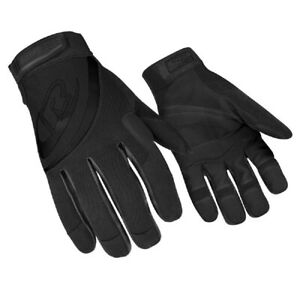 Ringers Gloves R 353 09 Black Padded Palm Rope Rescue rappelling Glove Medium