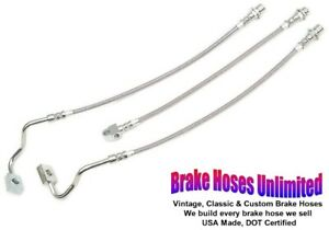 Stainless Brake Hose Set International Scout Ii With 2 Lift 1977 1978 1979