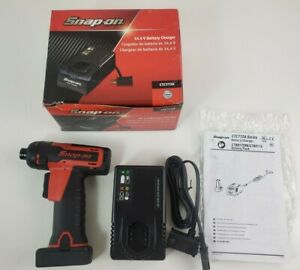 Snap On Cts761 Cordless Screwdriver W Battery And Battery Charger 14 4v Works