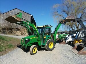 2011 John Deere 3120 4x4 Tractor With Loader Backhoe And Cab