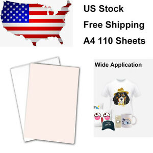 A4 110 Sublimation Sheets Sublimation Printing Paper Transfer Paper For T shirt