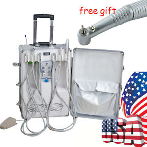 Portable Dental Delivery Unit Treatment Curing Light Ultrasonic Scaler Handpiece