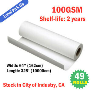 49rolls 64 100g Dye Sublimation Paper For Heat Transfer Printing Local Pick up