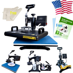 5in1 15 x12 Heat Press Swing Away Machine 110pcs Sublimation Paper For T shirt