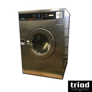 02 Speed Queen 50lb Coin Commercial Washer 3ph Laundromat Huebsch Unimac Ipso