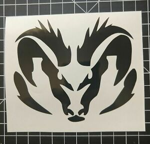 Vinyl Decal Ram Head Sticker Car Window Bumper Truck Hood