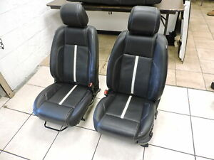 2010 2014 Ford Mustang Gt Black Leather Seats W stripe Front Rear W Airbags