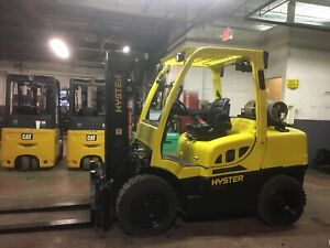 2015 9000 Lb Solid Pneumatic Forklift With Side Shift Triple Mast