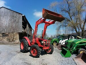 2010 Kubota M6040 4x4 Tractor With Loader 65 Hp