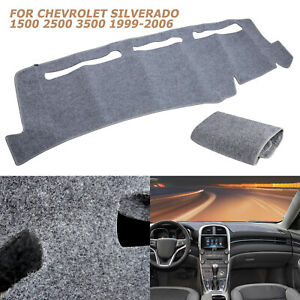 Grey Dash Cover Mat Pad Dashboard For 1999 2006 Chevy 1500 2500 3500 Tahoe 00 06