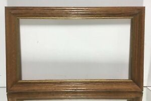 Vtg Mid Century Arts And Crafts Oak Picture Frame Fits 10 X 18